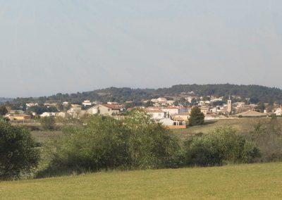 Le bourg de Creissan en pays bitterois